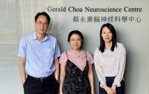 (From left) Professor Wing-Ho Yung, Dr Yi Li and Professor Ya Ke, School of Biomedical Sciences, Faculty of Medicine, CUHK