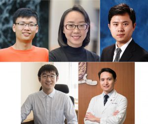 (first row, from left to right) Prof. TAN Yen Joe, Assistant Professor, Earth System Science Programme; Prof. LU Xinhui, Associate Professor, Department of Physics; Prof. REN Wei, Associate Professor, Department of Mechanical and Automation Engineering; <br /> (second row, from left to right) Prof. HE Wei, Assistant Professor, Department of Economics; Dr. KO Ho, Assistant Professor, Department of Medicine and Therapeutics.