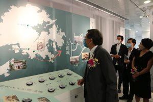 The interactive section traces Lingnan literati's footprints in Hong Kong.